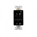 20 Amp Surge Protection Receptacle w/Audible Alarm & LED Indicators, Black