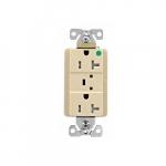20 Amp Surge Protection Receptacle w/Audible Alarm & LED Indicators, Ivory