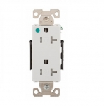 20 Amp Duplex Receptacle, Tamper Resistant, 2-Pole, White