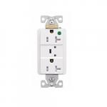 20 Amp Surge Protection Receptacle w/Audible Alarm & LED Indicators, White