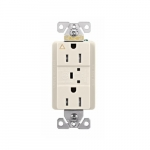 15 Amp Surge Protection Receptacle, Light Almond