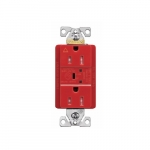 15 Amp Surge Protection Receptacle w/ LED Indicators, Red