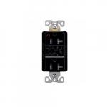20 Amp Surge Protection Receptacle w/Alarm & LED Indicators, Commercial Grade, Black