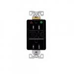 15 Amp Surge Protection Receptacle w/Alarm & LED Indicators, Hospital Grade, Black
