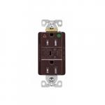 15 Amp Surge Protection Receptacle w/Alarm & LED Indicators, Hospital Grade, Brown