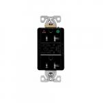 20 Amp Surge Protection Receptacle w/Alarm & LED Indicators, Hospital Grade, Black