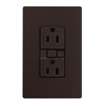 15 Amp Tamper Resistant Duplex GFCI Receptacle Outlet, Oil Rubbed Bronze