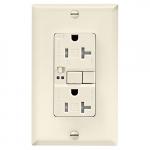 20 Amp Tamper Resistant Duplex GFCI Outlet w/ Audible Alarm, Light Almond