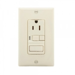 15 Amp Tamper Resistant GFCI Outlet/Switch Combination, Mid-Size, Almond