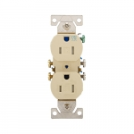 15 Amp Tamper & Weather Resistant Duplex Receptacle, Ivory
