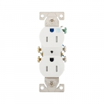 15 Amp Tamper & Weather Resistant Duplex Receptacle, White