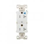 20 Amp Tamper & Weather Resistant NEMA 5-20R Duplex Receptacle, White