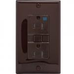 15 Amp Tamper & Weather Resistant GFCI Receptacle Outlet, Self Testing, Brown