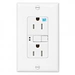 15 Amp Tamper & Weather Resistant GFCI NAFTA-Compliant Outlet, White