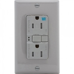 15 Amp Tamper & Weather Resistant GFCI Receptacle Outlet, Gray