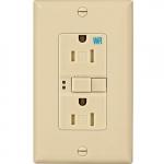 15 Amp Tamper & Weather Resistant GFCI Receptacle Outlet, Ivory