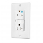 20 Amp Tamper & Weather Resistant GFCI Receptacle Outlet, White