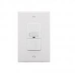 1000W Sensor Switch w/ Nightlight, Vacancy, 1000 sq ft. Range, White