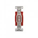 20 Amp Toggle Switch, Construction Grade, Single Pole, Gray