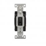 15 Amp Toggle Switch, 4-Way, 120V, Black