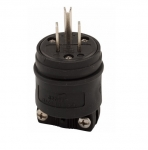 15 Amp Electric Plug, 2-Pole, 125V, Black