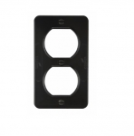 Metal Outlet Box, Portable, Duplex, Black