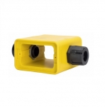 Cover Plate w/ Extra Depth, Portable, Duplex, Yellow
