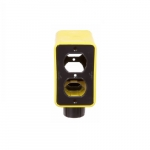 Portable Outlet Box & Duplex Receptacle Cover Plate Kit, Extra Depth, Yellow
