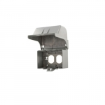 Extra Duty While-In-Use Weather Protective Cover Box, Vertical, Gray