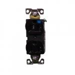15 Amp Weather Resistant NEMA 5-15R Duplex Receptacle Outlet, Brown