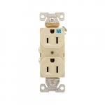 15 Amp Weather Resistant NEMA 5-15R Duplex Receptacle Outlet, Ivory