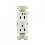 15 Amp Weather Resistant NEMA 5-15R Duplex Receptacle Outlet, White