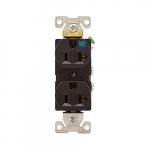 20 Amp Weather Resistant NEMA 5-20R Duplex Receptacle Outlet, Brown