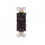 20 Amp Weather Resistant NEMA 5-20R Duplex Receptacle Outlet, Black