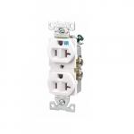 20 Amp Weather Resistant NEMA 5-20R Duplex Receptacle Outlet, White
