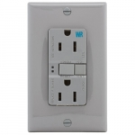 15 Amp Weather Resistant GFCI Receptacle NAFTA-Compliant Outlet, Gray