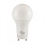 8W LED A19 Bulb, Omni-Directional, Dimmable, GU24, 800 lm, 120V, 3000K