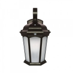12.5W LED Wall Lantern w/ Sensor & Photocell, Frosted Glass, E12, 1200 lm, 120V, 3000K