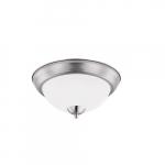 "19W 15"" LED Flush Mount Ceiling Light, Round, 1500 lm, 3000K, Acid Etch"