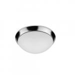 15-in 25W LED Flush Mount Ceiling Light w/ Frosted Lens, 2200 lm, 120V, 3000K, Chrome