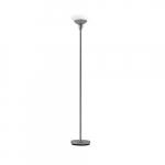 24W LED Torchiere Lamp, Acid Etched Glass, 120V, Brushed Nickel