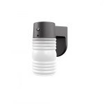 9W Jelly Jar Outdoor LED Wall Light w/ Dusk-to-Dawn Sensor, 800 lm, 5000K