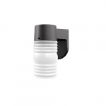 9W Jelly Jar Outdoor LED Wall Light, 800 lm, 5000K, Frosted