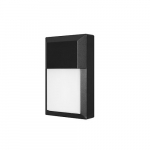 12W LED Wall Pack w/ Photocell, 1000 lm, 120V, 3000K, Black