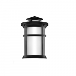 11.5W LED Outdoor Wall Lantern, Non-Dimmable, 1050 lm, 3000K, Frosted Lens