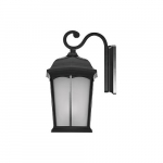12.5W LED Wall Lantern, 1200 lm, 3000K, Black
