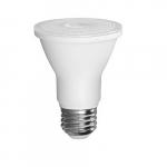 5.5W LED PAR20 Bulb W/ Frosted Plastic Lens, Shatter Resistant, 3000K