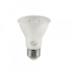 7W LED PAR20 Bulb, Dimmable, 40 Degree Beam, E26 Base, 500 lm, 120V, 5000K