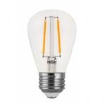 2W LED S14 Filament Bulb, E26, 180 lm, 120V, 2700K