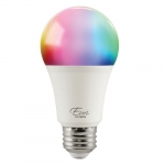 9W Smart LED A19 Bulb, Dimmable, E26, 810 lm, 120V, Multicolor Selectable CCT
